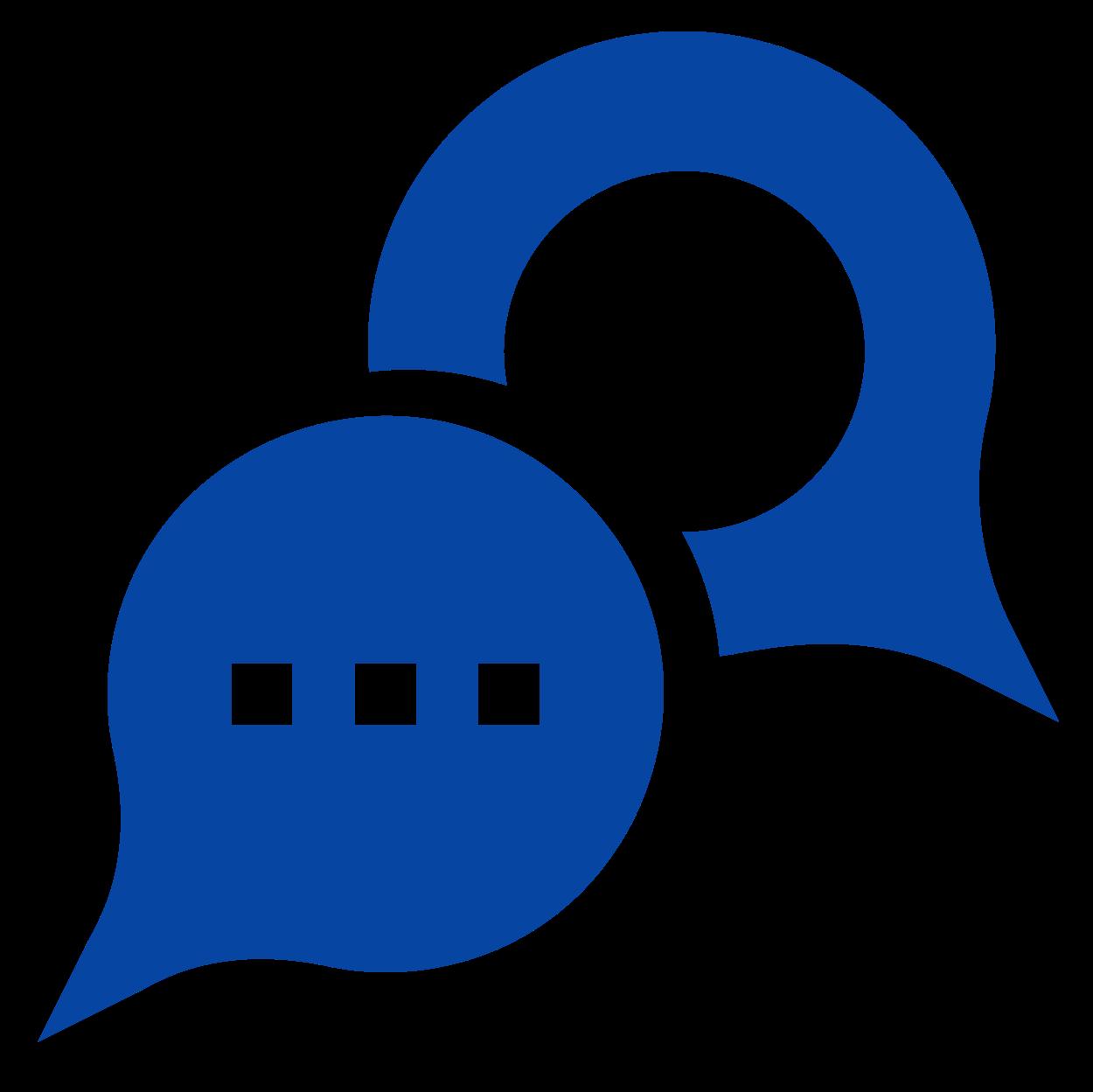 Dialogify Icon Blue